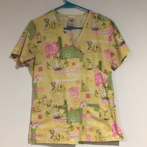 Disney Lady and the tramp scrub top extra small